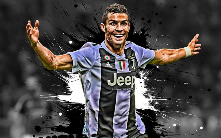 Scarica Sfondi 4k Cristiano Ronaldo Il Bianco E Il Nero Delle