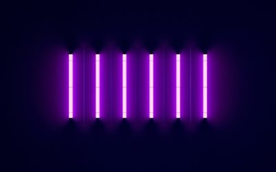 purple neon lights, Black background, purple neon light, neon background
