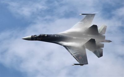 Su-35S, Russian fighter jets, military aircraft, Russian Air Force, Sukhoi