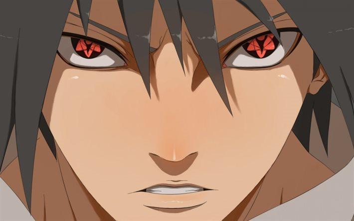 Download Wallpapers Sasuke Uchiha Red Eyes Mangekyo