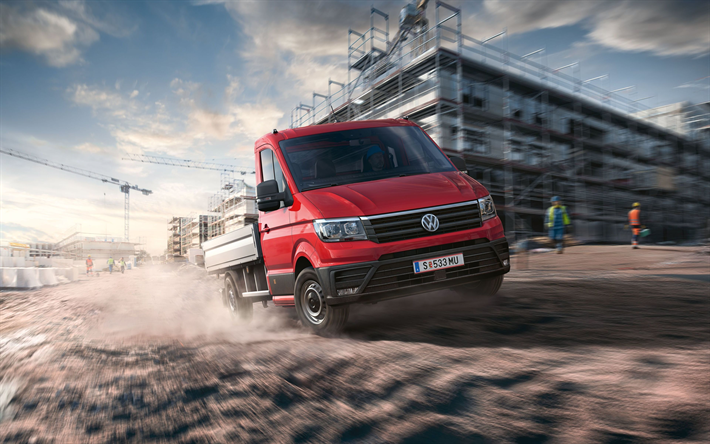 Download wallpapers Volkswagen Crafter, 2018, cargo truck