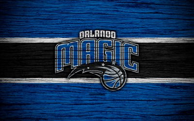 Download wallpapers 4k, Orlando Magic, NBA, wooden texture ...