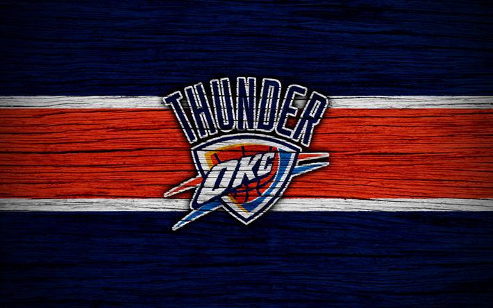 Download Wallpapers 4k Oklahoma City Thunder Nba Wooden