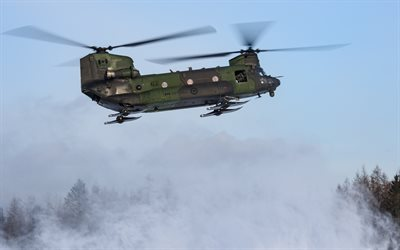 Boeing CH-47 Chinook, Canadian military helicopter, military transport helicopter, Canadian Army, Canadian Air Force, helicopter on skis