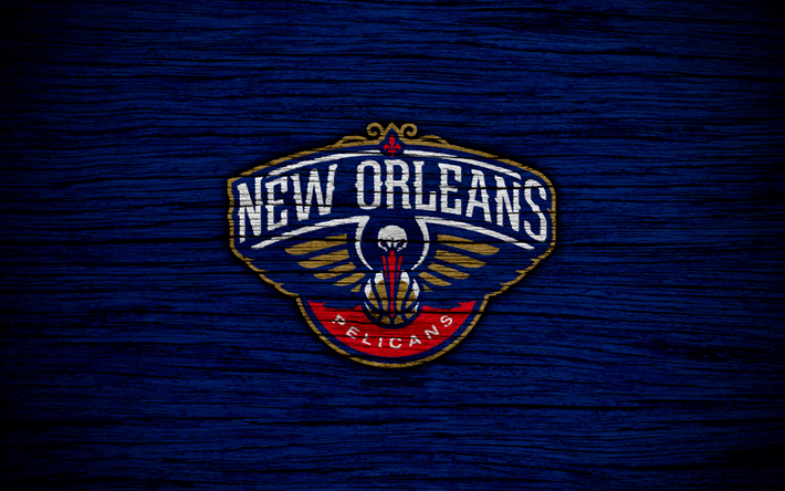 4k New Orleans Pelicans NBA Wooden Texture Basketball Western Conference