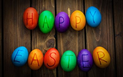 Happy Easter, April 1, April 8, 2018, spring, Easter eggs, congratulations