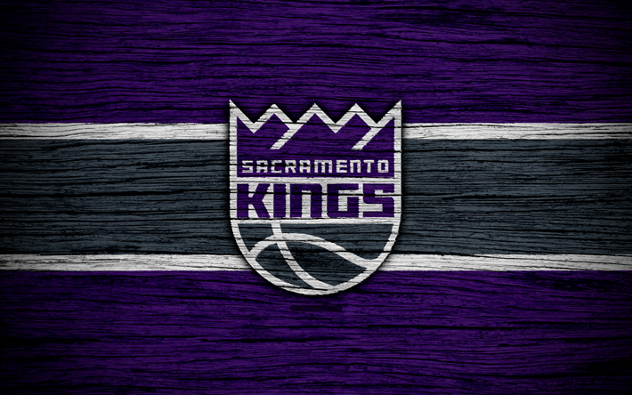 Download Wallpapers 4k Sacramento Kings NBA Wooden Texture