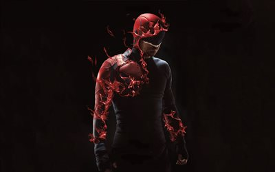 Daredevil, 4k, darkness, 2019 movie, poster, Matt Murdock, Charlie Cox