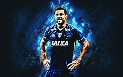 Fred, blue stone, Cruzeiro FC, brazilian footballers, soccer, Brazilian Serie A, football, Frederico Chaves Guedes, grunge, Brazil