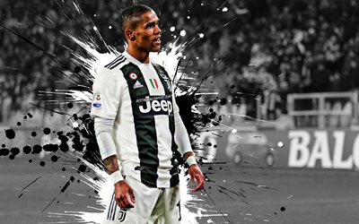 Douglas Costa, Juventus FC, goal, joy, Brazilian football player, midfielder, 11th number, famous football players, Serie A, Italy, football