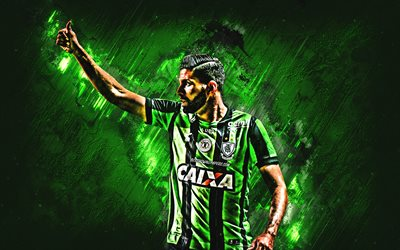 Gerson Magrao, America Mineiro, defender, joy, green stone, famous footballers, football, Brazilian footballers, grunge, Serie A, Brazil
