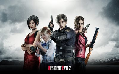 Resident Evil 2, 4k, poster, 2019 games, artwork, creative