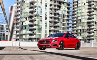 Mercedes-AMG CLA 35, 4k, luxury cars, 2020 cars, C118, 2020 Mercedes-Benz CLA-class, german cars, Mercedes