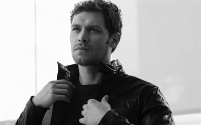 Joseph Morgan, portrait, english actor, photoshoot, monochrome, english stars