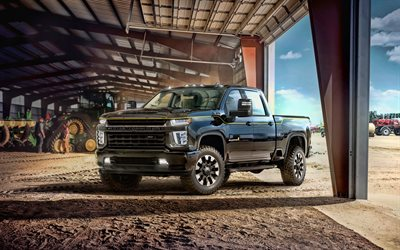 Chevrolet Silverado 2500 HD, 4k, farm, 2020 cars, SUVs, pickups, 2020 Chevrolet Silverado 2500 HD, american cars, Chevrolet