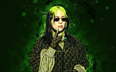 4k, Billie Eilish, 2020, fan art, music stars, american celebrity, Billie Eilish Pirate Baird OConnell, american singer, Billie Eilish 4K