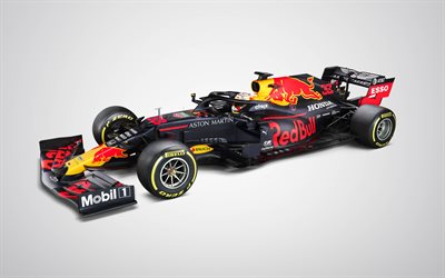 Red Bull Racing RB16, 4k, framifrån, Formel 1, F1 racing bil 2020, RB16, F1, 2020 Formula One World Championship, Red Bull Racing, Max Verstappen