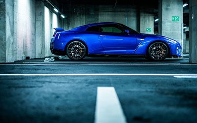 Nissan GT-R, 2020, R35, 50th Anniversary, blue sports coupe, tuning GT-R, Japanese sports cars, GT-R JP-Spec, Nissan