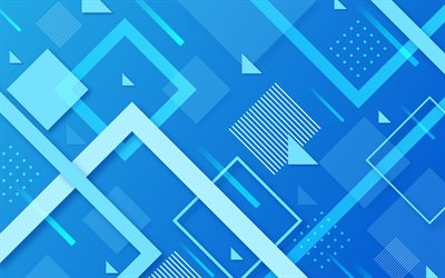 material design, blue geometric shapes, geometry, lines, creative, geometric shapes, lollipop, triangles, abstract art, strips, blue backgrounds