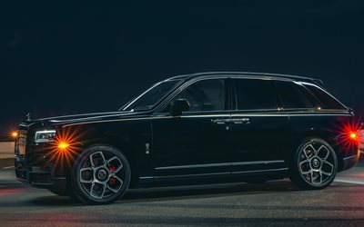 Rolls-Royce Cullinan Black Badge, 4k, luxury cars, 2020 cars, SUVs, 2020 Rolls-Royce Cullinan, Rolls-Royce