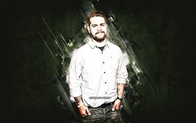 Jack Osbourne, english actor, gray stone background, creative art, popular actors, american star