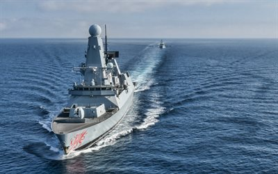 HMS Dragon, D35, Royal Navy, British air-defence destroyer, Type 45, Daring-class, British warships