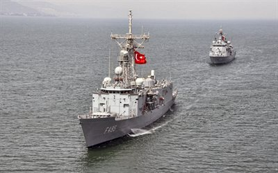 TCG Gediz, F495, Turkish guided-missile frigate, Turkish Navy, F-495, NATO, Flag of Turkey, Turkish warships