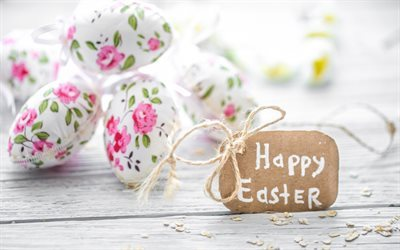 Happy Easter, spring holidays, religious holidays, Easter eggs, spring