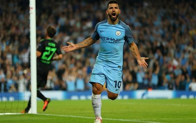 Sergio Aguero, Champions League, football stars, Manchester City, goal