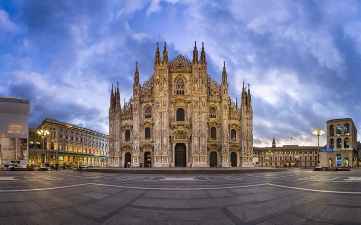 Milan Cathedral, Milan, Italy, Gothic style, Cathedral