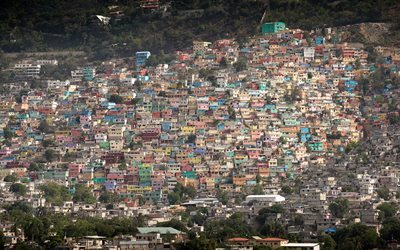 Haiti, mountains, houses, panorama