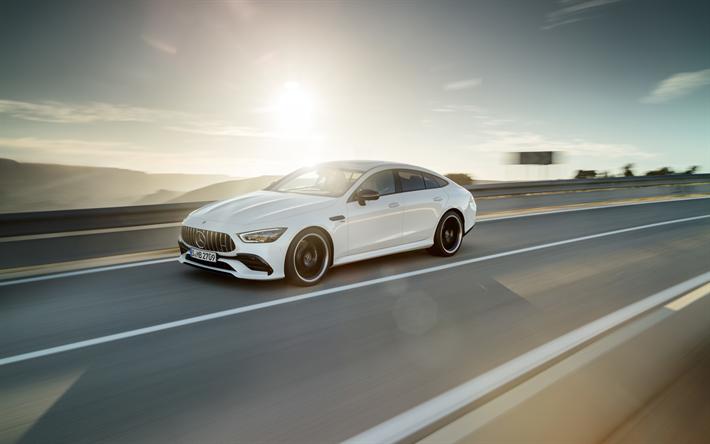 Herunterladen Hintergrundbild Mercedes Amg Gt 4 Turig Coupe