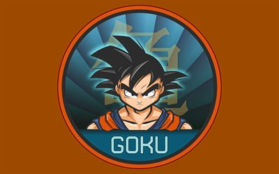 4k, Son Goku, minimalismi, DBS merkkiä, Dragon Ball, fan art, Dragon Ball Super, DBS, kuvitus, Son Goku DBS