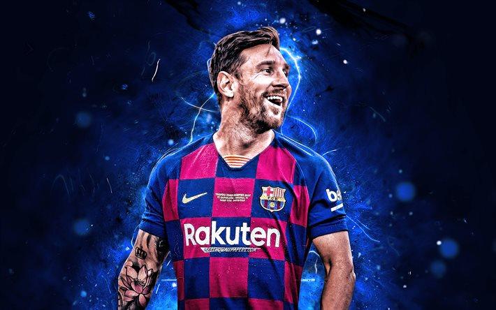 Download wallpapers Lionel Messi, joy, 2020, Barcelona FC ...