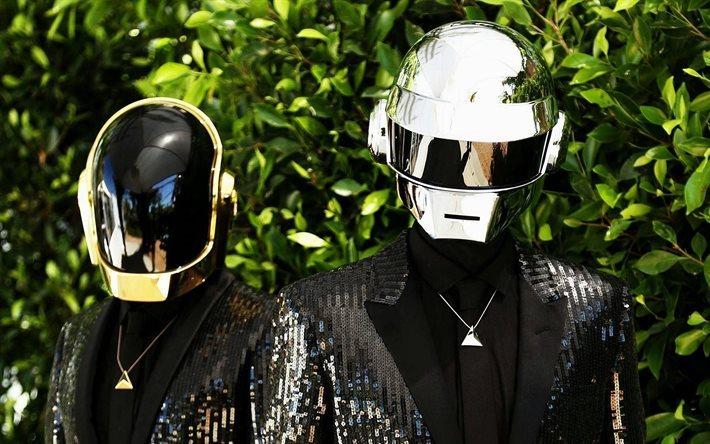 Download wallpapers djs, Daft Punk, musicians, Guy-Manuel ...