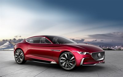 MG E-motion Concept, 2017, Electric sports car, sports coupe, MG, new cars