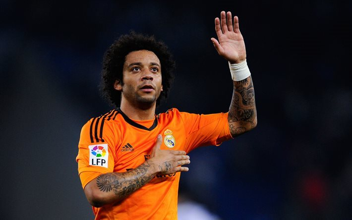 Marcelo du Real Madrid, les joueurs de football, La Liga, Marcelo Vieira