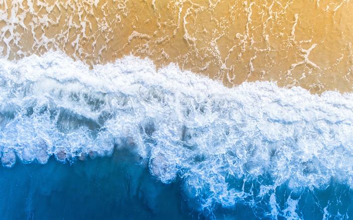 Scarica Sfondi Costa Vista Dallalto Mare Surf Onde Oceano