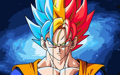 Download wallpapers goku 4k fan art dragon ball super - Dragon ball super background music mp3 download ...