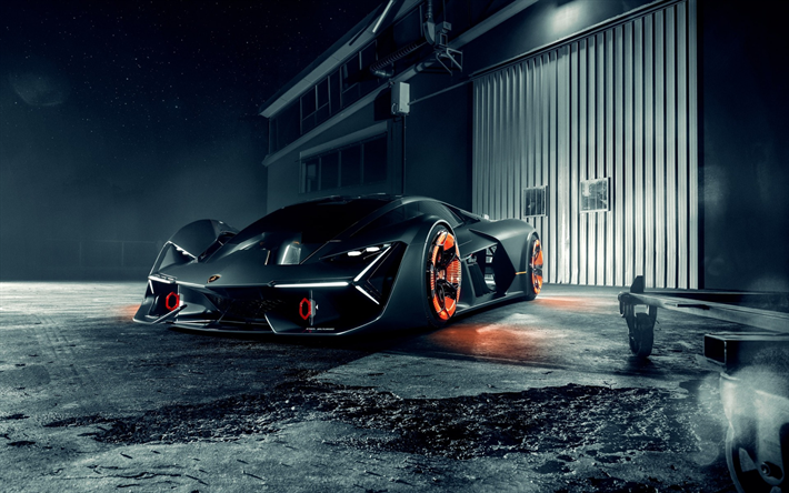 Download Wallpapers Lamborghini Terzo Millennio Electric Supercar