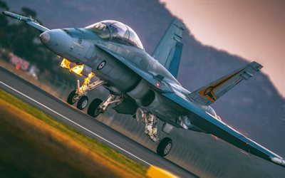 Boeing FA-18EF Super Hornet, attack aircraft, Royal Australian Air Force, combat aircraft, Australian Army, Boeing