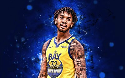 Marchese Chriss, 2020, NBA, Golden State Warriors, il basket, il Marchese DeShawn Chriss, creativo, luci al neon, Marchese Chriss Golden State Warriors
