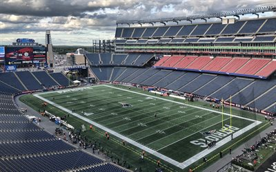 Gillette Stadium, Foxborough, Massachusetts, New England Patriots Stadium, NFL, New England Revolution, MLS, football stadium, NFL stadiums, sports arena, New England Patriots, USA