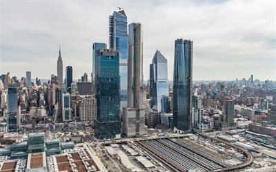 Hudson Yards, Manhattan, New York City, West Side Yard, 10 Hudson Yards, skyscrapers, NYC, modern buildings, cityscape, New York, USA, Chelsea and Hudson Yards