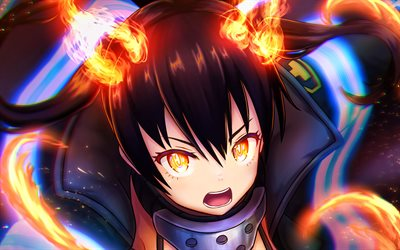 Kotatsu Tamaki, manga, Fire Force, fire flames, Enen no Shouboutai, protagonist, Kotatsu Tamaki Fire Force