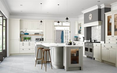 classic style in the kitchen, modern interior design, kitchen, classic style, idea for a classic style kitchen, white walls in the kitchen