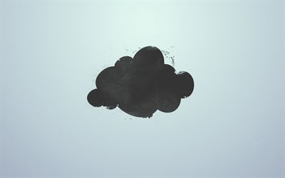 black cloud, minimal, creative, gray backgrounds, clouds, background with clouds, cloud minimalism