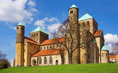 St Michaels Church, 4k, Hildesheim, cityscapes, summer, german cities, Europe, Germany, Cities of Germany, Hildesheim Germany