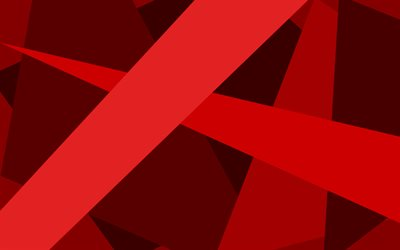 red lines, creative, material design, geometric shapes, red backgrounds, geometric art, background with lines
