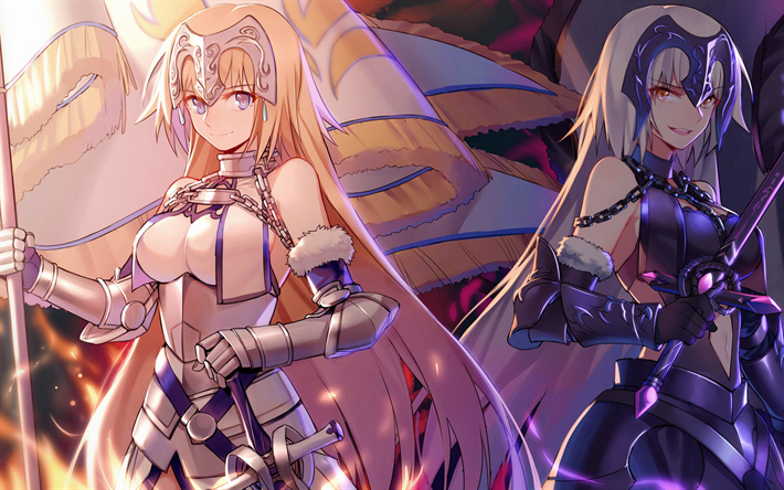 download wallpapers avenger jeanne d arc fate grand